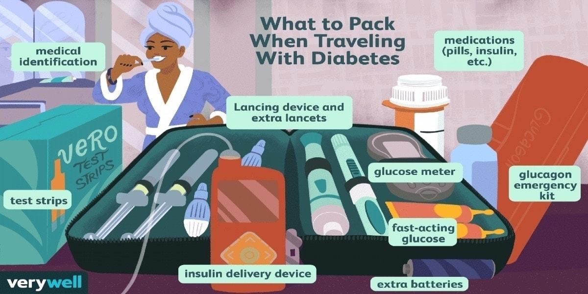 Bệnh nhân tiểu đường chuẩn bị đi du lịch